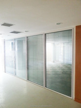 Cadre en aluminium panneau de verre étanche cloison