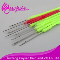 Micro rings tool plastic crochet hook pulling needle for human hair feather extension use tools