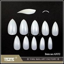 Hot sell! 600pcs-AN52 Natural Pointed Cusp False Tip,ABS Nail Tips