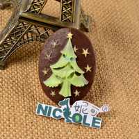 Christmas Tree Shape Silicone Fondant Mold for Cupcake Decoration