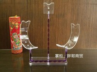 Clear plastic acrylic shoe store ikea display stand racks