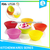 Home useful reusable food grade silicone cupcake pan