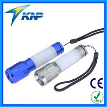 Multifunction 1W+3 Red+8 LED Zoom Flashlight