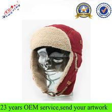 Fashion Russian Wholesale Men Faux Fur Custom Winter Trapper Hat With Earflap