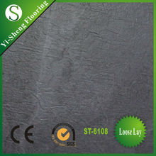 Factory hot selling loose lay anti-slip waterproof flooring vinyl tiles slate