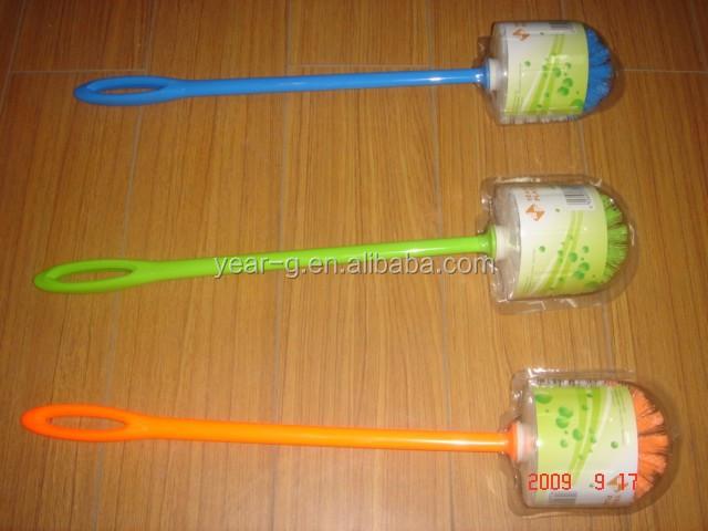 toilet brush with long handle,plastic toilet brush