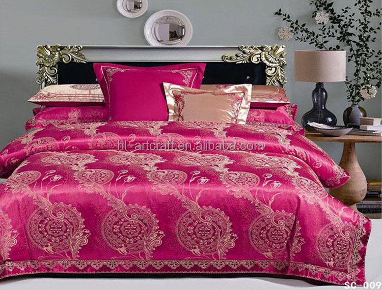 Elegant Wholesale Cheap Fancy Luxury Wedding Bed Sheet Set