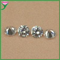 aaa quality 8mm white round star cut synthetic cz beads