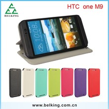 For HTC M9 Ultra thin flip leather case
