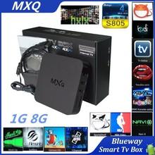 2015 Hot Sale Smart TV Box Pre-installed Latest Xbmc Kodi Fully Loaded Android TV Box MX Amlogic S805 Quad Core Mxq OTT TV Box