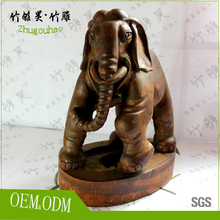 manmade handicraft unique elephant make of bamboo root