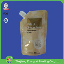liquid packing bag shampoo liquid detergent package bag spouted pouch
