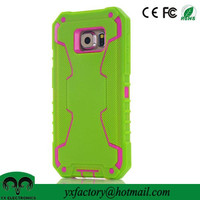 alibaba china wholesaler 3 in 1 shockproof pc silicon case for samsung galaxy s6