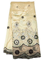 by DHL,cream-coloured smooth George lace , Africa lace fabric