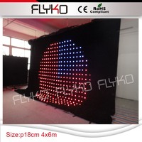 high see-though soft led video curtain with easy install