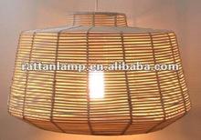 el diseño moderno de ratán lámpara pedante