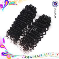 Wholesale raw virgin unprocessed 100% human hair deep wave european curly hair bundles