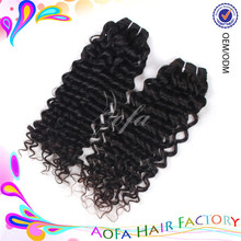 Wholesale raw virgin unprocessed 100% human hair deep wave european curly hair bundles