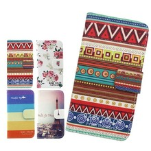 Hot New Products TPU Inside For Alcatel C5 Pattern Leather Wallet Mobile Phone Case