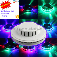 Auto and sound activated sunflower led disco light 48 LEDs mini LED Stage Light rgb christmas lights stock promotion