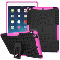 Rugged Tyre stand armor case for iPad Air anti-skid back shell for iPad