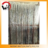 2015 Glitter Effect Silver foil Shiny curtain design 2014