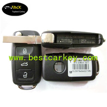 Original 3 buttons flip remote car key for vw passat remote key 5K0 959 753 AG