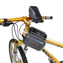 2015 new waterproof bike bags kit top tube bicycle bag mobile phone bicycle bag