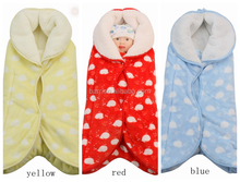 Flower design double layer thick flannel baby blanket