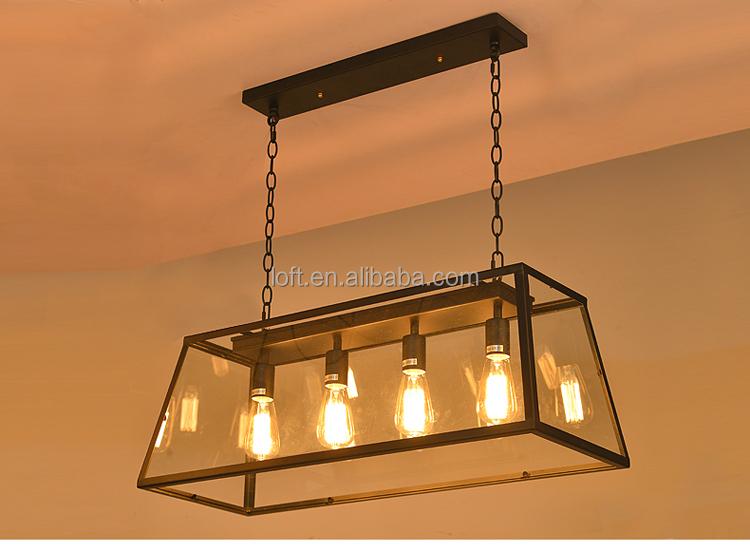 Europ enne r tro lampe suspendue vintage table de cuisine for Lustre ampoules suspendues