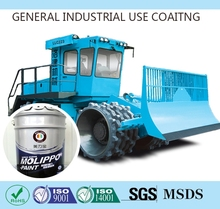 Automotive purple liquid coating for construction equipment