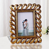 resin Golden cartoon certificate holder children naturist photo frame 4 x 6 inch clear standing collage sex photo frame BY001