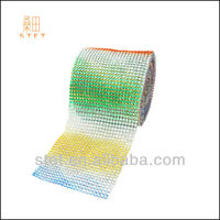 crystal mesh roll colored diamond for decoration