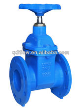 Double flange cast iron gate valve with rubber seat