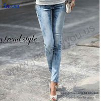 Cheap China Garment Supplier Hugging Women Smart Denim Jeans Curvy Fashionista Stylish Ankle Skinny Long Jeans Pants