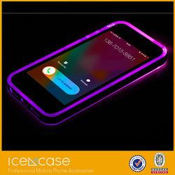 2015 fashion hot calling coming light up LED Leather phone case