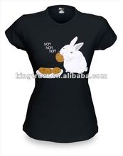 women printed tshirt with Bunnies