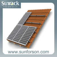 Pitched or flat roof solar panels mount with durable bracket