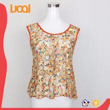 2016 new style bohemia floral vests short vest top