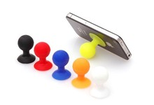 Mini Ball Suction Cup Silicone Mobile Phone Holder/Rubber Octopus Phone Holder