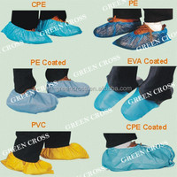 Plastic Shoe cover Water-resistant booties, compressed polyethylene, PVC or laminated film