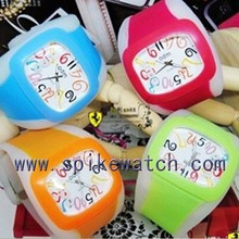 Many colors available slap Watches customized logo silicone jelly watch