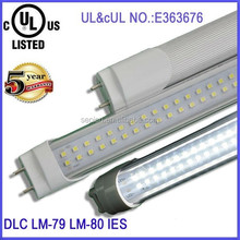 High lumen cool white LED tubes 4foot ul listed 18w led T8 tube light with 5 years warranty