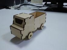 Wooden toy building truck, diy wood car