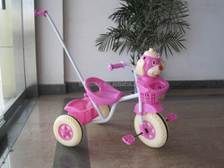 CHEAP PLASTIC TOY BABY CHILDREN STROLLER TRICYCLE /KIDS BABY TRICYCLE PLASTIC