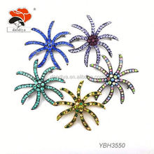 top quality rhinestone initial brooches with workable price