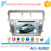 7 inch fixed digital panel car DVD player for TOYOTA VIOS 2008 with GPS TV and bluetooth
