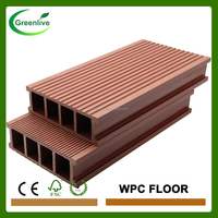 Cheap price duck plastic slat wood floor