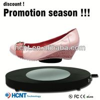 new invention ! magnetic levitating led display stand for shoe woman,tb dress shoes