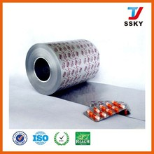 PTP alu foil/medical packing aluminum foil for blister medical packing pill blister packs